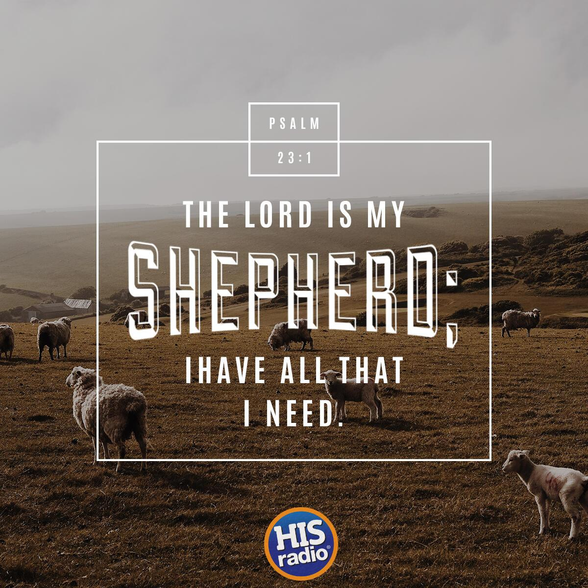Psalm 23:1 - Verse of the Day