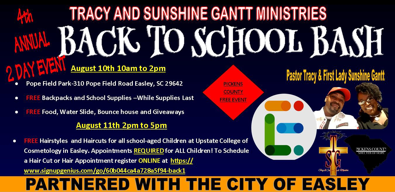 Pickens County School Calendar.4th Annual Back To School Bash Easley Sc His Radio